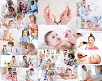 生病的可爱儿童摄影高清图片