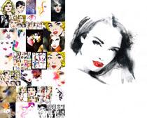 绘画水彩欧美美女摄影高清图片