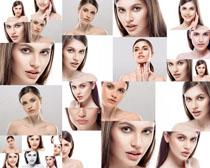 臉部肌膚歐美女人攝影高清圖片