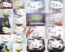 商务数据分析与人物摄影高清图片