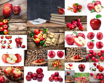 新鲜大红苹果摄影高清图片