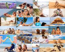 生活人物与沙滩美景摄影高清图片