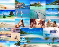沙滩美丽风光摄影高清图片