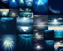 海底光芒景观摄影高清图片