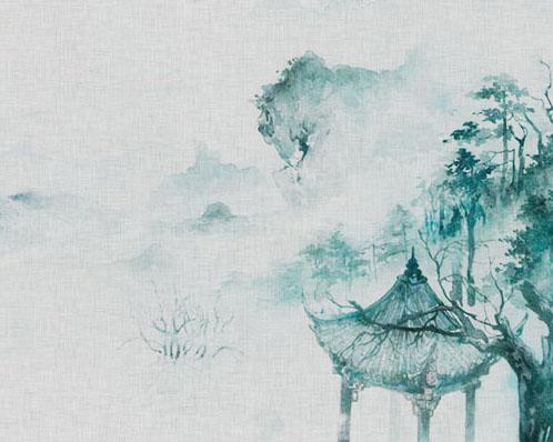 水墨风景绘画PSD素材