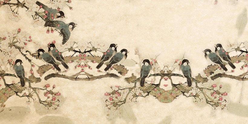 树枝绘画小鸟时时彩投注平台