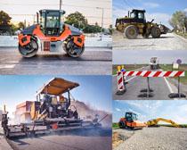 公路施工机器摄影高清图片