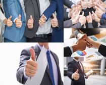 大拇指商务人士摄影高清图片