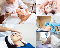 肌肤脸部护理摄影高清图片