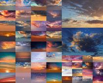 夕阳云层云朵摄影高清图片