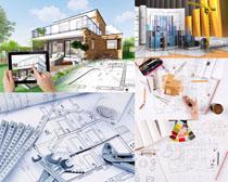 建筑圖紙展示拍攝高清圖片