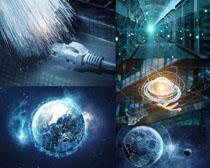 网络科技地球摄影高清图片