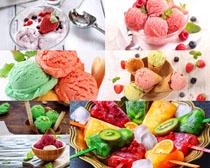 冰淇淋水果摄影高清图片