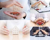 汽车模型与商务人士摄影高清图片