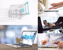 网络笔记本购物摄影高清图片