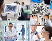 眼科医生与器材摄影高清图片