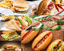 面包薯条食物摄影高清图片
