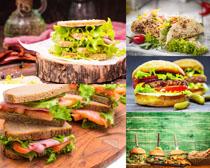 汉堡包面包食物摄影高清图片