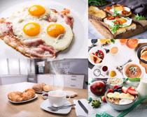鸡蛋面包水果摄影高清图片