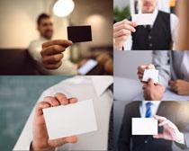 空白名片商务男人摄影高清图片