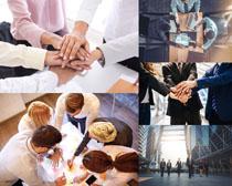 商务人士团队合作摄影高清图片