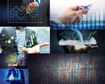 商务趋势图表摄影高清图片