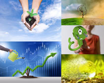 商务环保创意摄影高清图片