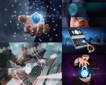 科技数码锁人物摄影高清图片