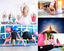 瑜伽练习女士摄影高清图片