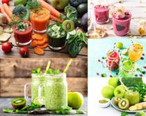 营养果汁饮料摄影高清图片