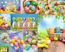 彩绘鸡蛋艺术摄影高清图片