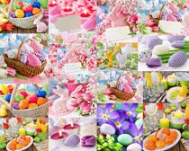 彩蛋花朵裝飾物攝影高清圖片