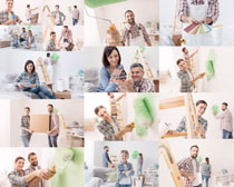 粉墙夫妻摄影高清图片