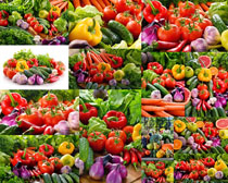 辣椒黄瓜西红柿蔬菜摄影高清图片