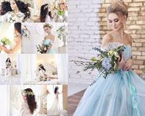 美丽的欧美新娘摄影高清图片