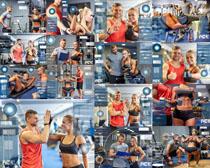 动感健身男女摄影高清图片