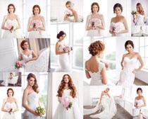 美女婚纱新娘写真摄影高清图片