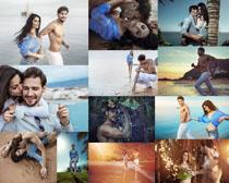海边欧美情侣摄影高清图片