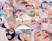 脸部美容护理女人摄影高清图片