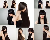 乌黑发型美女模特摄影高清图片