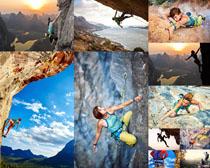 极限运动攀岩人物摄影高清图片