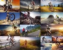 山地自行车骑行人物摄影高清图片