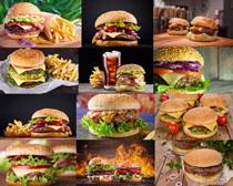 汉堡包可乐薯条摄影高清图片