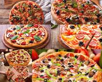 欧式披萨美食摄影高清图片