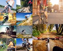 山地自行车越野人物摄影高清图片