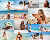 欧美比基尼大海美女摄影高清图片