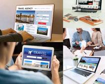 旅行报团夫妻摄影高清图片