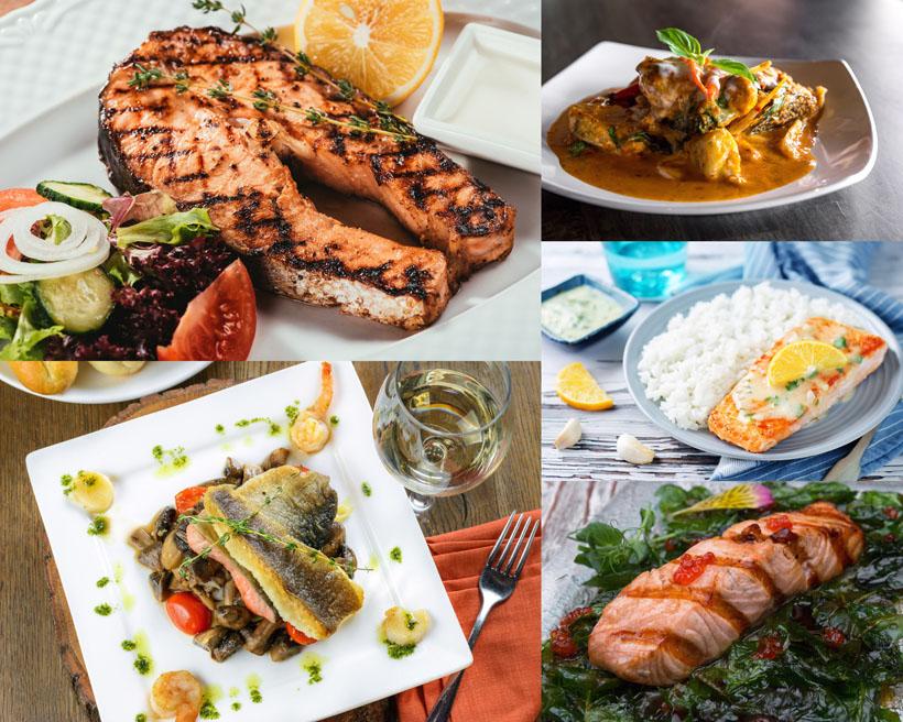 烤鱼肉食物摄影高清图片
