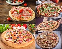 披萨食物展示拍摄高清图片