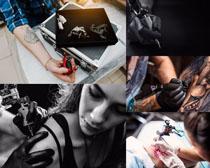 纹身的女人摄影高清图片
